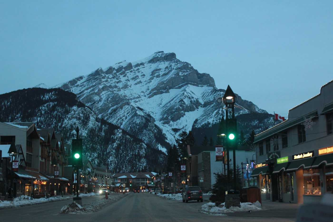 Banff im Winter 2013.
